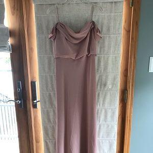 Jenny Yoo dress with draped sleeves